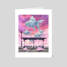 Pink sky  - Art Card by Jane Koluga