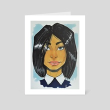 Girl from subway - Art Card by Nilla Skaalu