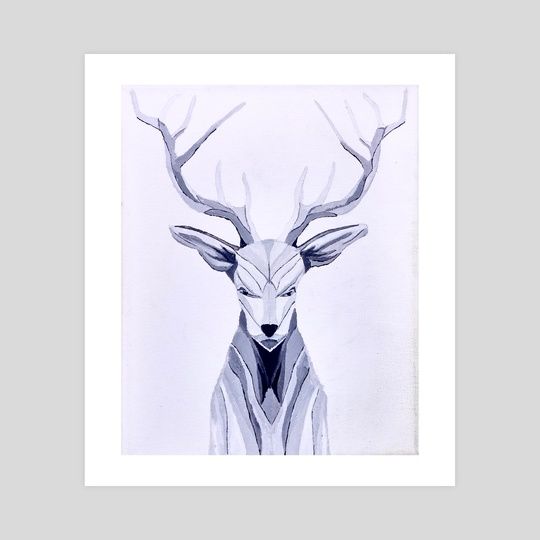 Abstract Deer by Brian Sloan