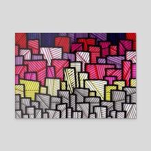 Lines #4 - Acrylic by Marc Kusnierz