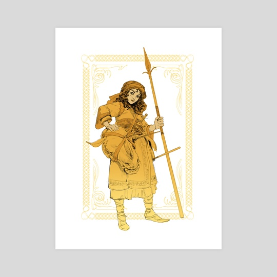 Ayaan with longspear by Even Mehl Amundsen