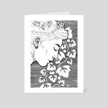 Ariadne Drawing - Art Card by Bronwen MacDonald