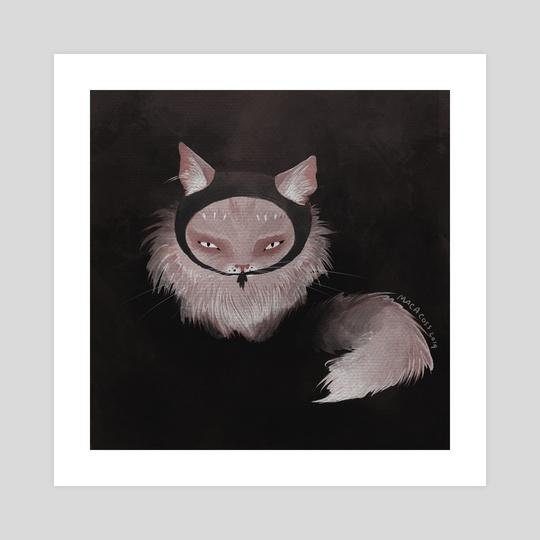 Ninja Cat by Carlota Alarcon