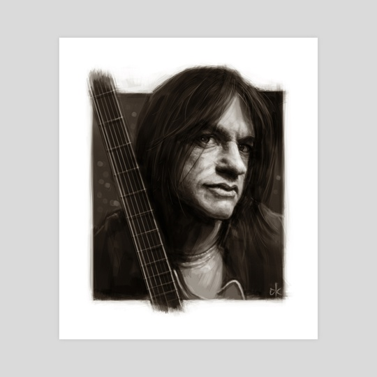 Malcolm Young Portrait by Andre Koekemoer