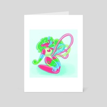 Gummy worms - Art Card by Elinor Henness