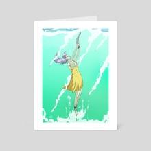 Swimming - Art Card by João Respeito
