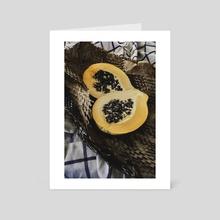 the scent of green papaya - Art Card by alex bone