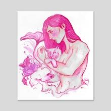 Siamese  - Acrylic by India Emmaline