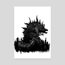 The King of Monsters  - Canvas by Hypocrite.ink (Sean Parker)