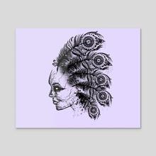 Indian ghost - Acrylic by Danny Villarreal
