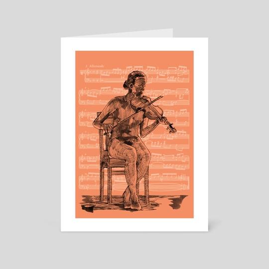 violin girl by mamut  rojo