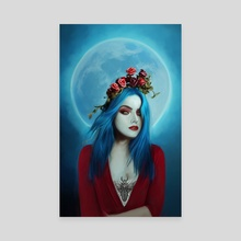 Blue Moon - Canvas by Andi Robinson