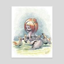 A Mermaid's Lunch - Canvas by Edgar Covarrubias