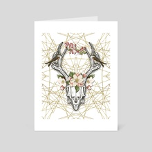 BOHO SKULL - Art Card by Gloria Sánchez