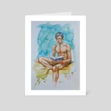 READING - Art Card by Hongtao Huang