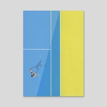 Tennis Player  - Acrylic by From Above