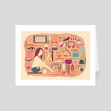 The Modern SAKHMET - Art Card by Min Morris