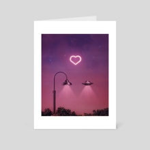 Love at first light - Art Card by Enkel Dika
