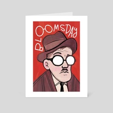James Joyce - Art Card by Maria Ku