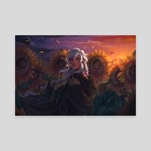 Sunflowers - Canvas by RuneScratch