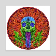 Skull Mandala - Canvas by Aleks Shcherbakov