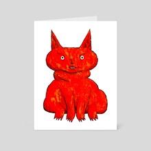 Bestiary: Catlike Demon - Art Card by Micky Walls