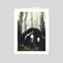 In The Forest - Art Card by Ari Ibarra