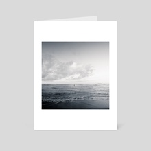 calm day ver.black - Art Card by noir blanc777