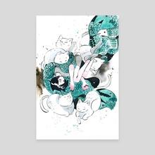 Catnap - Canvas by koyamori
