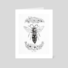 Bee Kind - Art Card by India Mawn