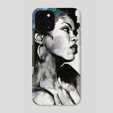 Miseducation: Lauryn Hill Tribute | black woman portrait | realistic pencil drawing - Phone Case by Marco Paludet
