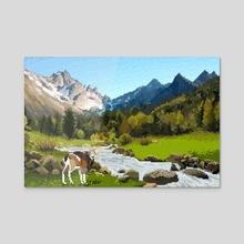 La Vall de Nuria - Acrylic by Anna Nguyen