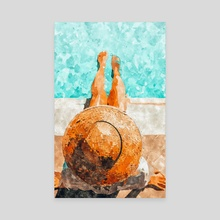 By The Pool All Day - Canvas by 83 Oranges