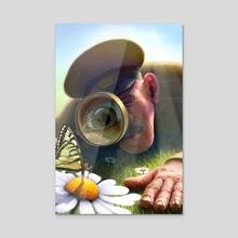 Inspector Flowers - Acrylic by Jeremy Norton Artist