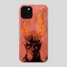 Hellboy Portrait - Phone Case by Berk Senturk