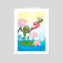 The Frog & Fly - Art Card by Muhammad Syafe'i