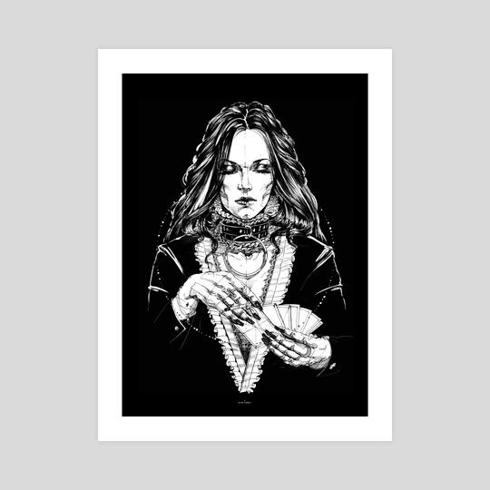Lady with Cards. Yury Fadeev. by Yury Fadeev