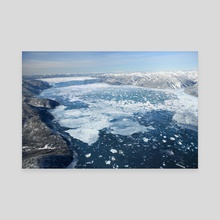 GLACIAL LAKE MISSOULA - ICE DAM - Canvas by Jared Shear