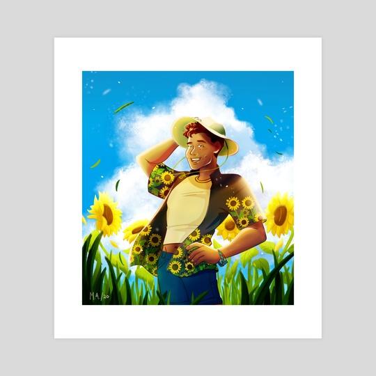 Kalmin Among Flowers by Mariel Abella