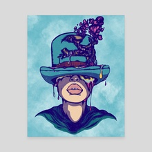 The Hapless Headpiece - Teal Version  - Canvas by Kid Sovereign