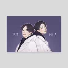 fila jikook - Canvas by Kurokomi