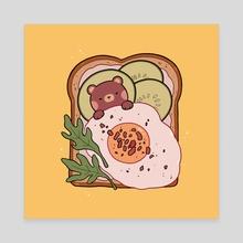 Bear and Breakfast - Canvas by Nekomori Art