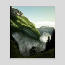 Mountain Pass - Canvas by Chloe Wolverton