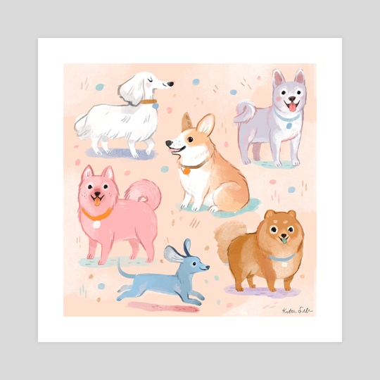 Pastel Pups by Kathryn Selbert