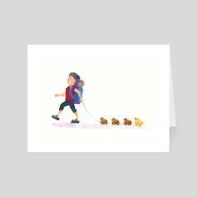 Taking a Walk - Art Card by Anneliese Mak