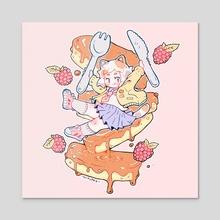 Cat Pancakes - Acrylic by Nemupan
