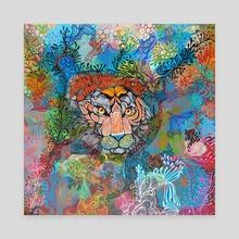 Tiger - Canvas by Noemí Ibarz