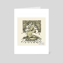 In Suspense (Olive/Back OL) - Art Card by Maverick Chavaria & Cecilia Salisbury