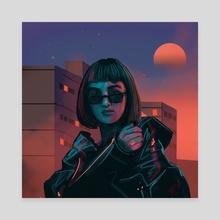 Neon Planet - Canvas by Daria Popkova