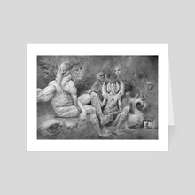 Paradise Lost- Rimmon and His Demons - Art Card by Steven Zapata